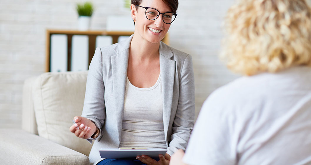 Two women in a consultation process